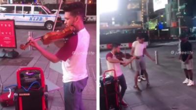 Quand des New-Yorkais entendent un violon dans la rue