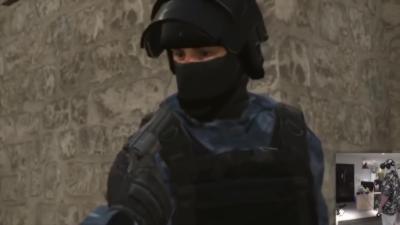 Jouer à la roulette russe dans un jeu vidéo en réalité virtuelle