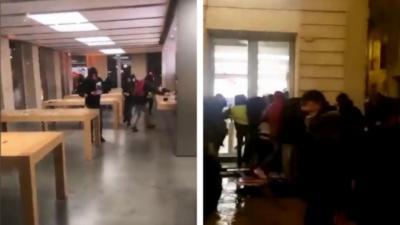 Des casseurs pillent un Apple Store à Bordeaux