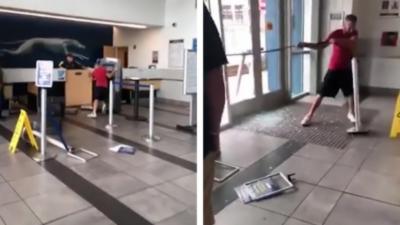 Un homme pète un plomb et saccage une gare routière