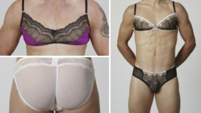 Une société lance une collection de soutiens-gorge et de petites culottes en dentelle pour hommes