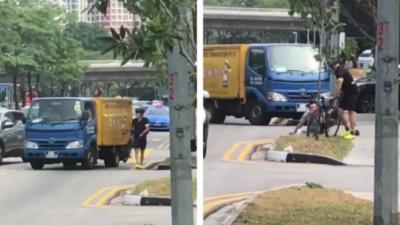 Un road rage entre un livreur et un cycliste qui se termine par un KO