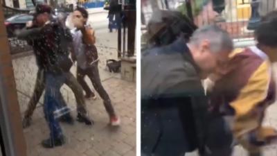 L'agent de sécurité d'un McDonald's se fait agresser par deux hommes et réplique en sortant son arme