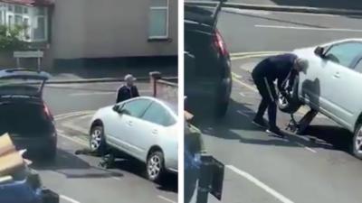 Ils volent le pot catalytique d'une voiture en pleine journée