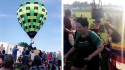 Une montgolfière s'écrase sur des festivaliers après que le pilote ait perdu le contrôle