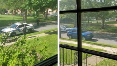 Un jeune s'amuse à faire des wheelings devant la police et finit par s'encastrer dans leur voiture