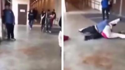 Un jeune étudiant qui se fait agresser se venge avec une énorme prise de catch