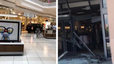 Un automobiliste rentre en voiture dans un centre commercial et sème la panique