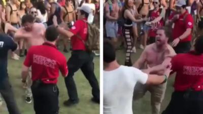 Un festivalier agressif et sous drogue se fait calmer très rapidement