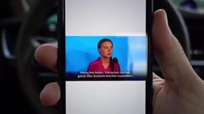 Un automobiliste a un message à faire passer pour Greta Thunberg