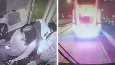 Une conductrice de tramway fait l'erreur de regarder son téléphone