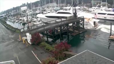 Un Yatch de 21 millions d'euros s'écrase contre d'autres bateaux dans une marina