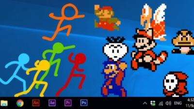 Stickmans vs. Super Mario Bros