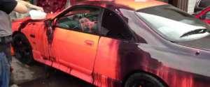 La couleur de la voiture qui change en fonction de la température